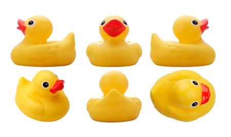 Jaune Duck.with caoutchouc chemin de détourage