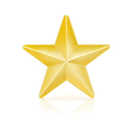 gold: Gold star Stock Photo