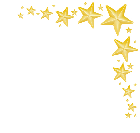 Gold stars on white background