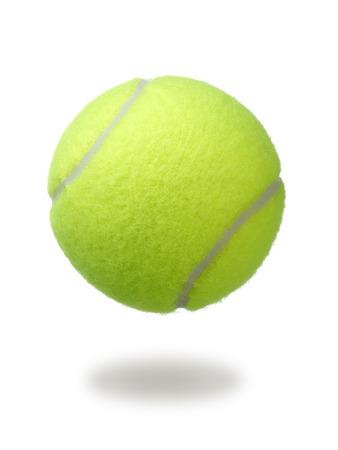 tennisbal die op witte achtergrond wordt geïsoleerd. groene kleur tennisbal.