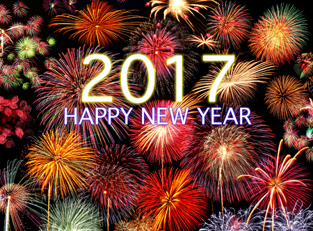2017 HAPPY NEW YEAR Stock Photo