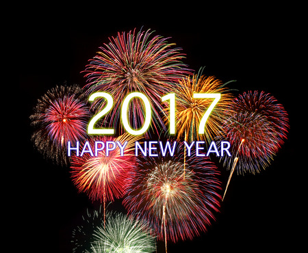 happy new year: 2017 HAPPY NEW YEAR Lizenzfreie Bilder