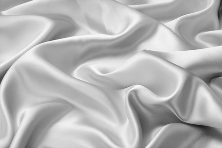 Silver satin or silk fabric as background