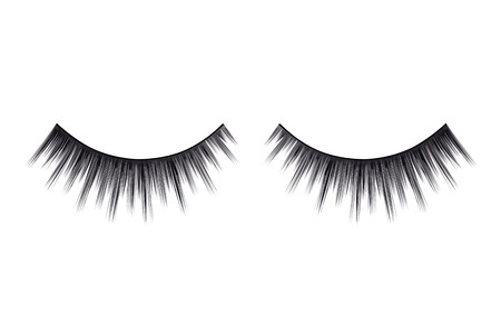 close up eyes: Close up a New false Eyelashes for woman eyes isolated on white background with copy space Stock Photo
