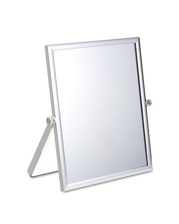 chrome: Chrome Makeup Mirror on White