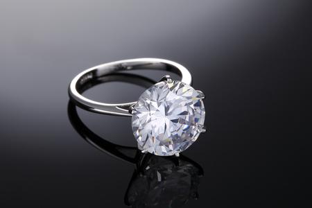 Brilliant Diamond Ring Stock Photo
