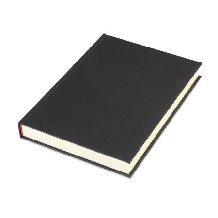 クリッピング パスと白い背景に分離された空白のハードカバーの本