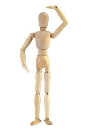 Wooden Mannequin with clipping path