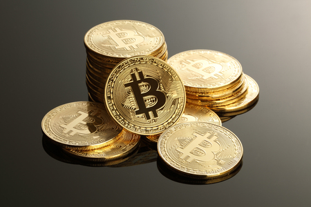 Golden Bitcoins. New virtual money