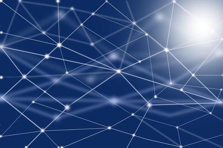 フィンテック技術とブロックチェーンネットワークコンセプト