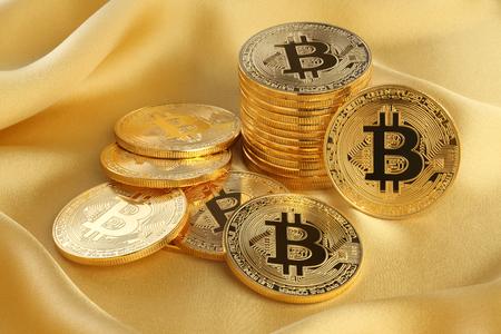 Golden Bitcoins. New virtual money