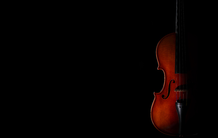 A violin on a dark background. 写真素材 - 100216147