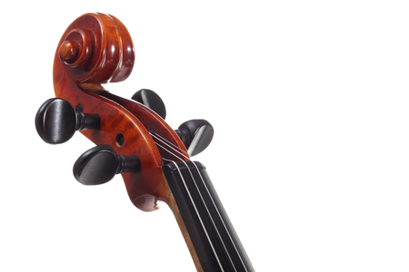 Closeup view of violin Stock Photo
