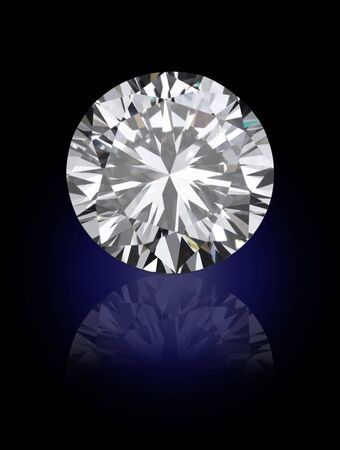 top view of loose brilliant round diamonds on black background