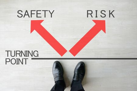 Business Image : Safety or Risk? 写真素材