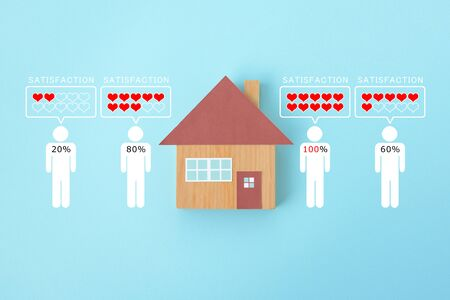 Image of satisfaction with housing Banque d'images