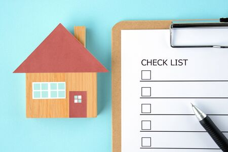 Housing and Checklist 写真素材