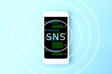 SNS function of the smartphone Фото со стока