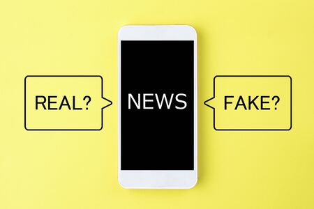 Real news or fake news? Banque d'images