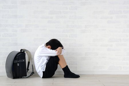 a child with his face face down