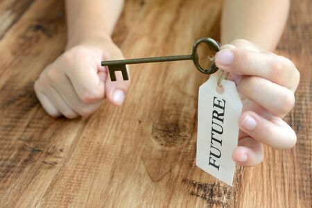 Children's Hands and the Key to the Future