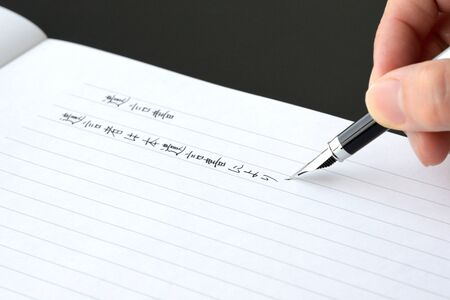 the hand of the person who writes a will