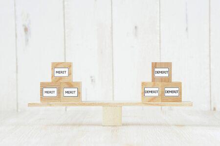 Balance between advantages and disadvantages 写真素材