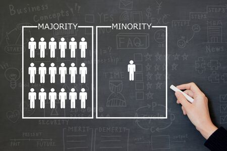 Business Image: Majority and Minority Фото со стока