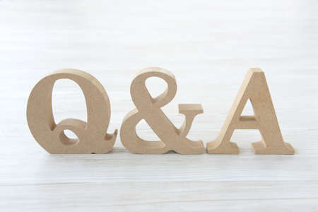 Q&A composed of wood characters