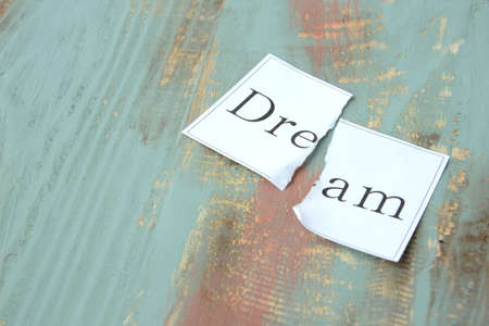 The image of giving up a dream or goal
