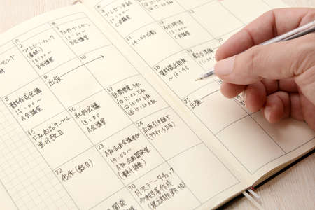 a businessman who writes a schedule