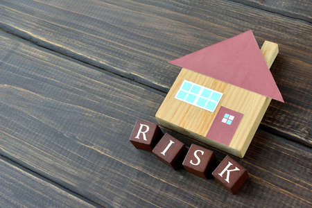 Risk image of housing Banque d'images
