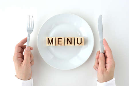 Image of the menu and menu of the meal
