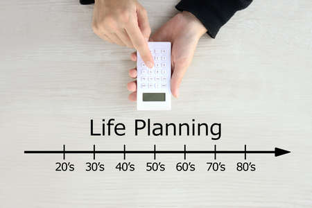 Images of life design and money calculations 版權商用圖片