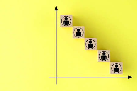 Image of a decrease in the number of people
