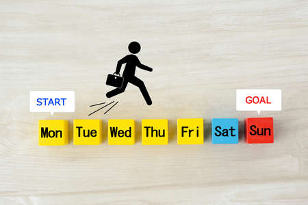 One week's schedule and schedule image