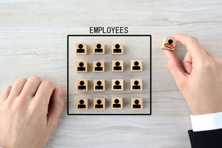 Image of staff reduction 免版税图像