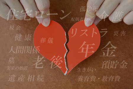 Image of collapse of the heart for various reasons