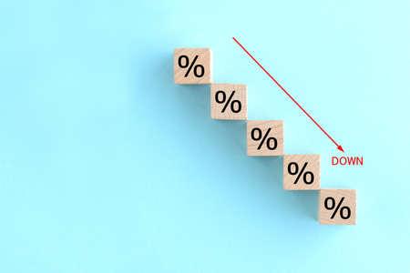 Graph of decreasing percentages