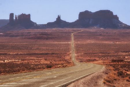 Route 163 in Arizona to Monument Valley photo