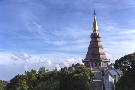Temple in the Doi Inthanon National Park, Chiang Mai, Thailand photo