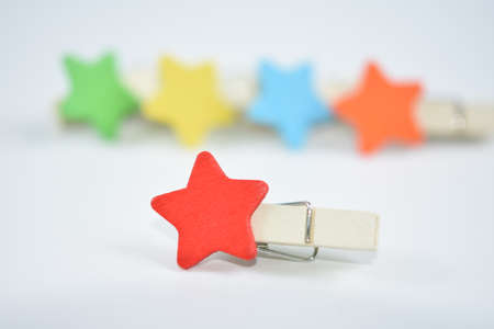 Cloth clips are in many colors. Banco de Imagens