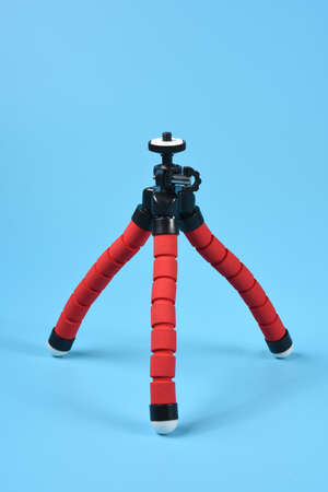 flexible red tripod for smartphone and small camera, ball joint omni directional adjustable.