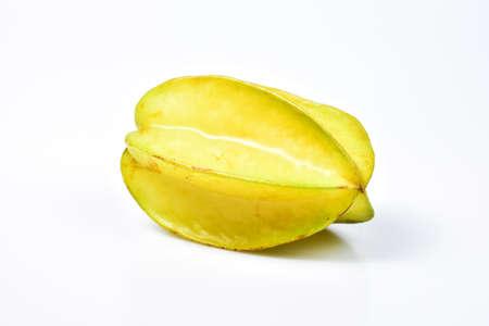 Star fruit or Carambola on white background