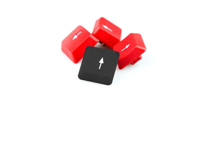 Computer arrow keys isolated on white background.