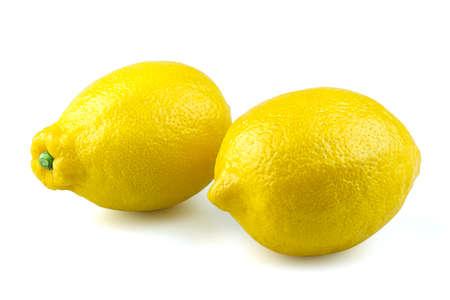 lemon isolated white background Banco de Imagens
