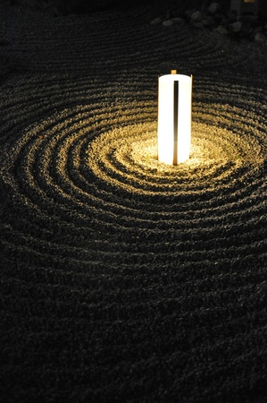 illuminated zen garden