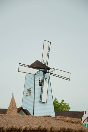 huahin: Windmill in Huahin floating market, Thailand