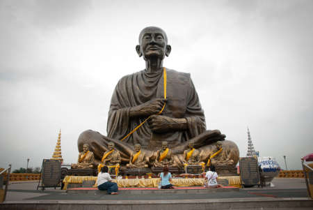 thaiart: The biggest Luang phor Tho statue in thailand Stock Photo