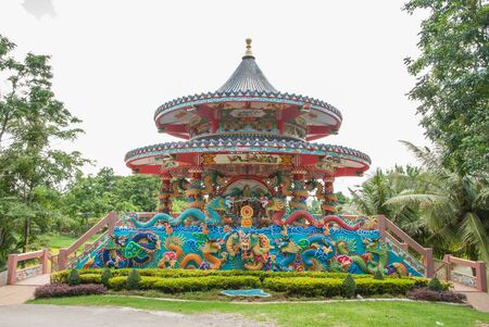 thaiart: Chinese shrine in Kanchanaburi